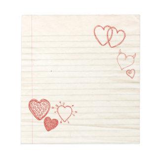 Letra de amor de la libreta del Doodle Libretas Para Notas