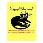 Letra de amor de mi gato: entrenamiento de la obed tarjeta postal