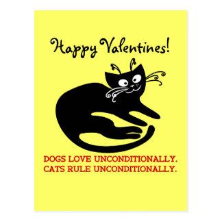 Letra de amor de mi gato: entrenamiento de la obed postales