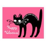 Letra de amor de mi gato: etiqueta del gato postal