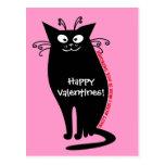 Letra de amor de mi gato postales