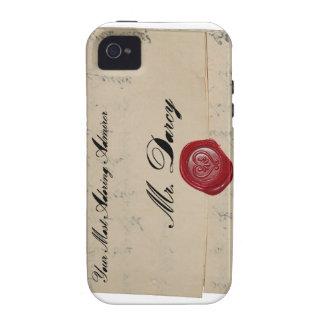 Letra de amor de Sr. Darcy Regency Vibe iPhone 4 Funda