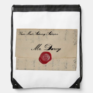 Letra de amor de Sr. Darcy Regency Mochila