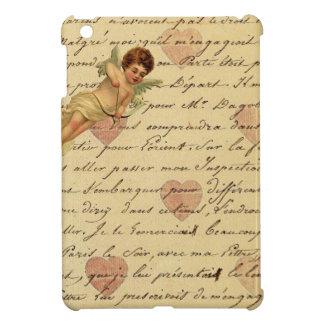 Letra de amor elegante francesa de los corazones d