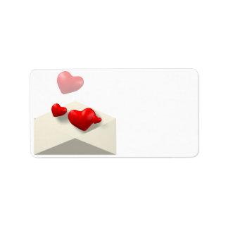 Letra de amor etiquetas de dirección