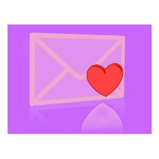 Letra de amor postal