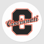 Letra de Cincinnati Etiqueta Redonda