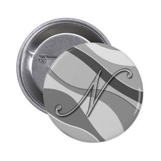 Letra de cristal elegante N del monograma Pins