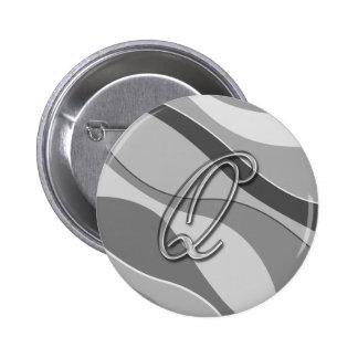 Letra de cristal elegante Q del monograma Pin