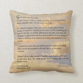 Letra de dios cojines