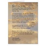 Letra de dios felicitación