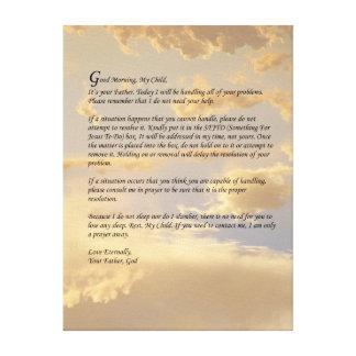 Letra de dios impresiones en lienzo estiradas