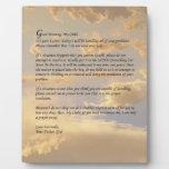 Letra de dios placas