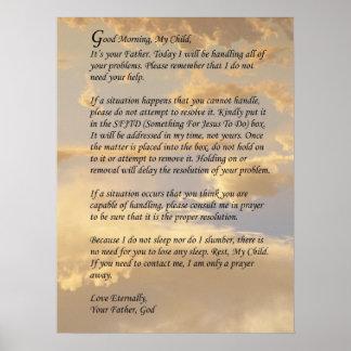 Letra de dios póster