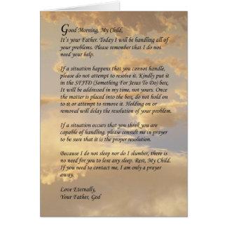 Letra de dios tarjeta de felicitación