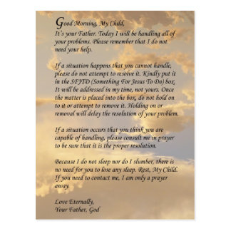 Letra de dios tarjetas postales