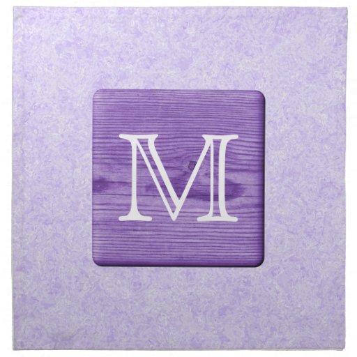 Letra de encargo del monograma. Imagen de la mader Servilletas Imprimidas