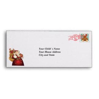 Letra de encargo del navidad del vintage de Santa… Sobres