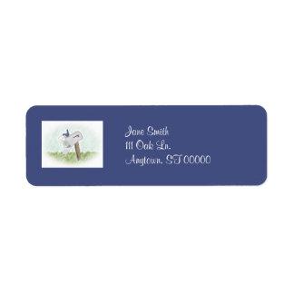 Letra de etiquetas de una dirección adaptables del etiqueta de remite
