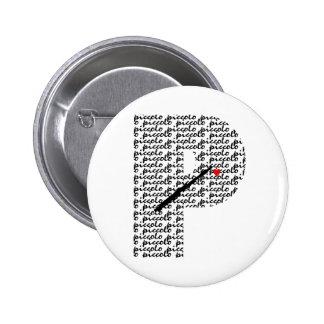 Letra de flautín P Pin Redondo De 2 Pulgadas