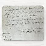Letra de George Frederick Handel Alfombrillas De Raton
