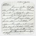 Letra de Guillermo IV a señora Nelson Calcomanías Cuadradas
