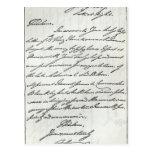Letra de Guillermo IV a señora Nelson Tarjeta Postal