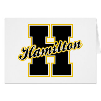 Letra de Hamilton Felicitacion