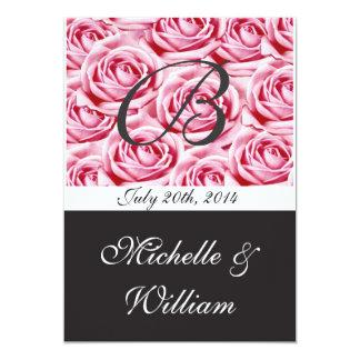 Letra de invitación del boda del monograma B