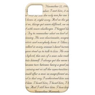 Letra de Jacoba Kennedy a John F. Kennedy iPhone 5 Case-Mate Carcasas