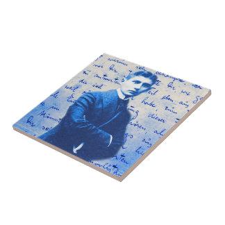 Letra de Kafka Azulejo Cuadrado Pequeño