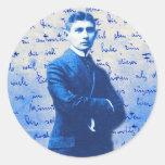 Letra de Kafka Etiquetas Redondas
