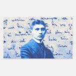 Letra de Kafka Pegatina Rectangular