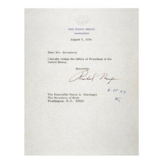 Letra de la dimisión de Richard M. Nixon 1974 Plantillas De Membrete