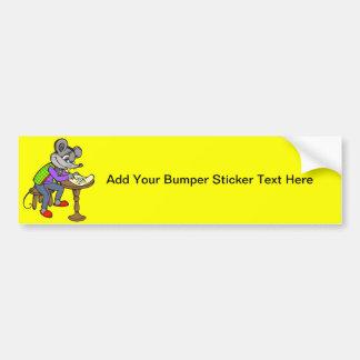 Letra de la escritura del ratón etiqueta de parachoque