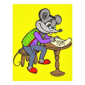 """Letra de la escritura del ratón folleto 8.5"""" x 11"""""""