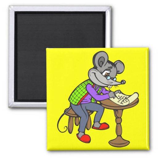Letra de la escritura del ratón imanes