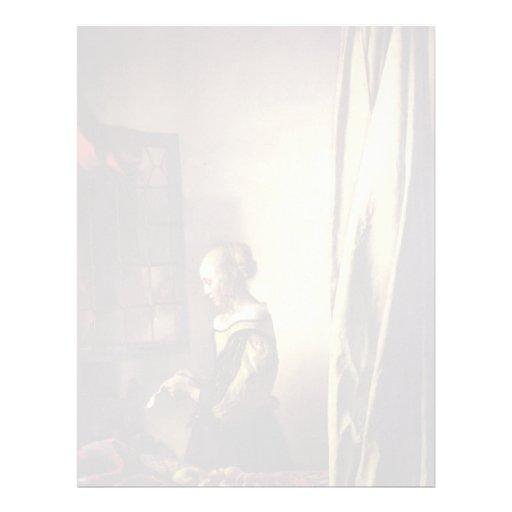 Letra de la lectura del chica en la ventana de Jua Membrete