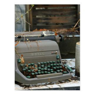 Letra de la máquina de escribir postales