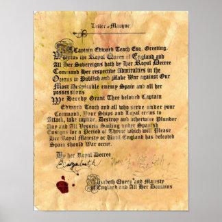 Letra de la marca oficial impresiones