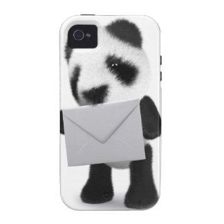 letra de la panda del bebé 3d carcasa iPhone 4