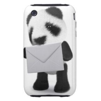 letra de la panda del bebé 3d carcasa resistente para iPhone