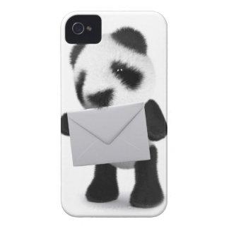 letra de la panda del bebé 3d funda para iPhone 4