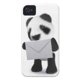 letra de la panda del bebé 3d funda para iPhone 4 de Case-Mate