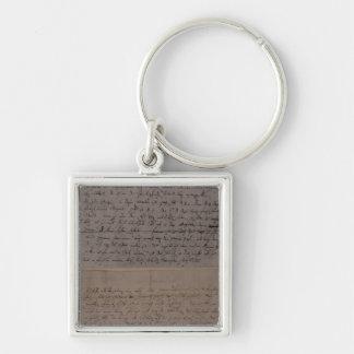 Letra de Leopold Mozart Llavero Cuadrado Plateado