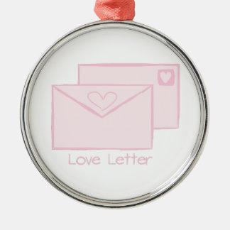Letra de Letter_Love Adorno Redondo Plateado