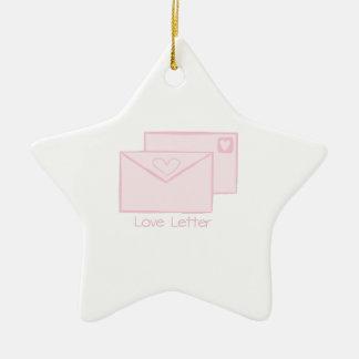 Letra de Letter_Love Adorno De Cerámica En Forma De Estrella