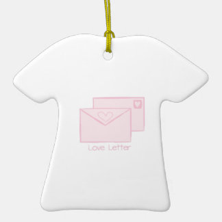 Letra de Letter_Love Adorno De Cerámica En Forma De Camiseta