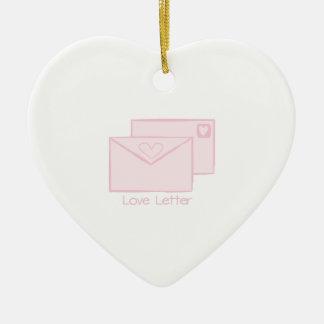Letra de Letter_Love Adorno De Cerámica En Forma De Corazón