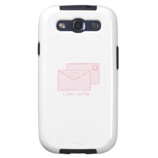 Letra de Letter_Love Galaxy S3 Carcasas